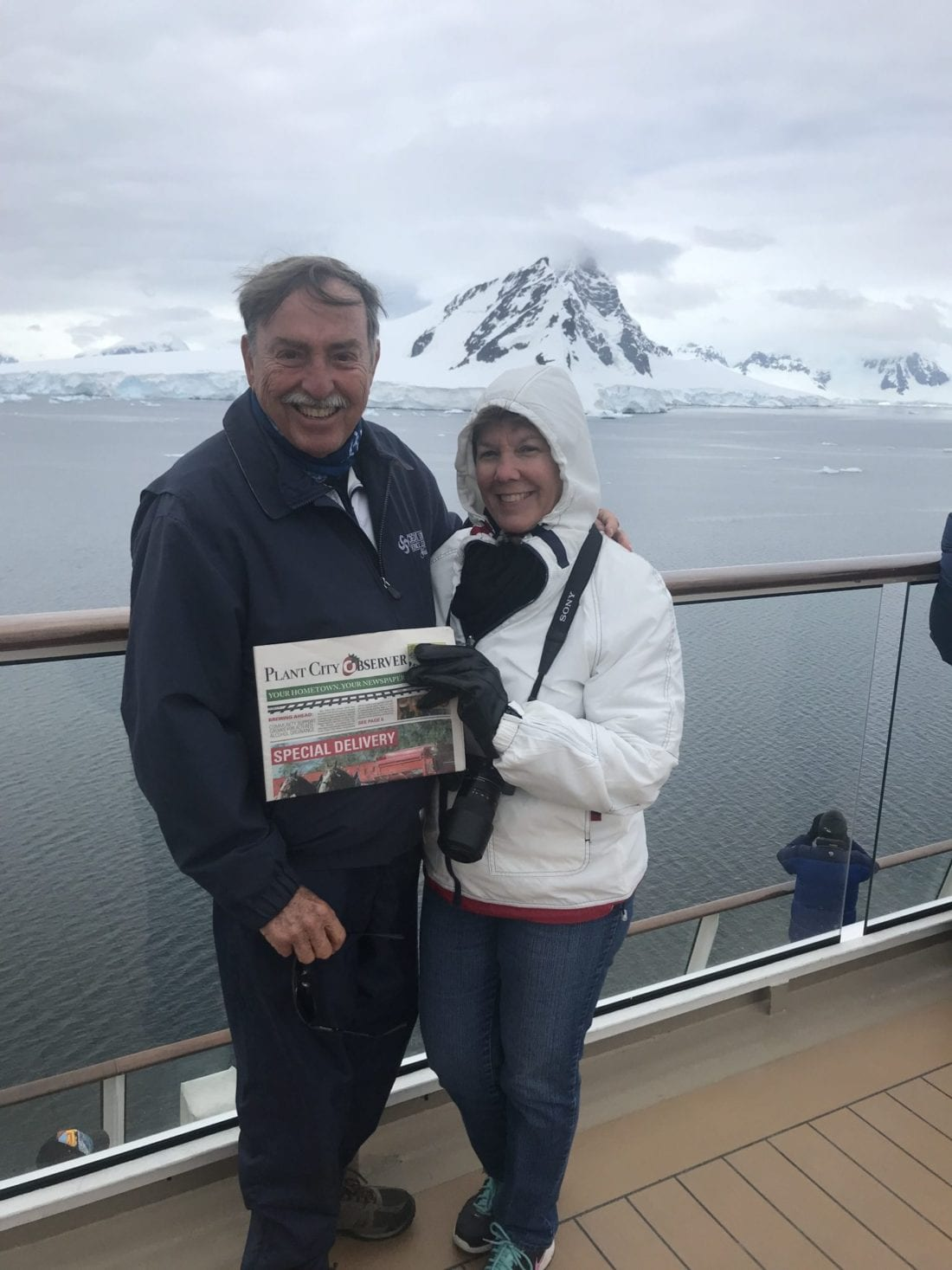 Art and Mary Wood - Antarctica